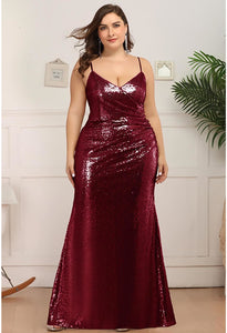 Plus Size Evening Dresses Sexy Sequin - 4