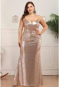 Plus Size Evening Dresses Sexy Sequin - 6