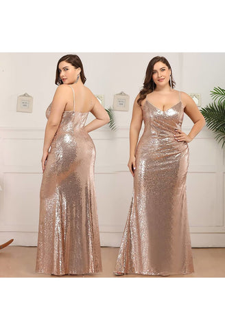 Image of Plus Size Evening Dresses Sexy Sequin - 10