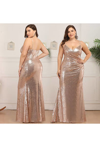 Plus Size Evening Dresses Sexy Sequin - 10
