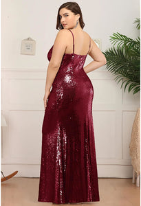 Plus Size Evening Dresses Sexy Sequin - 2