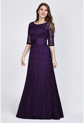 Image of Plus Size Mother of the Bride Dress Long Sleeve Lace Formal - 3