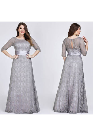 Image of Plus Size Mother of the Bride Dress Long Sleeve Lace Formal - 10