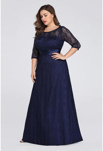 Plus Size Mother of the Bride Dress Long Sleeve Lace Formal - 14