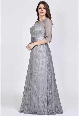 Image of Plus Size Mother of the Bride Dress Long Sleeve Lace Formal - 9