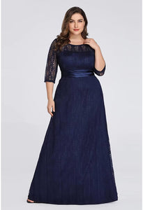 Plus Size Mother of the Bride Dress Long Sleeve Lace Formal - 11