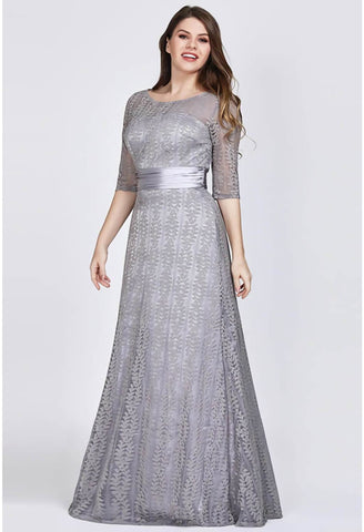 Image of Plus Size Mother of the Bride Dress Long Sleeve Lace Formal - 7