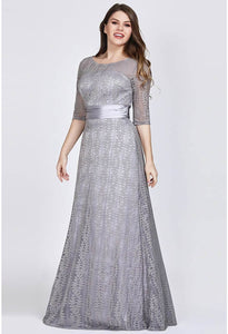 Plus Size Mother of the Bride Dress Long Sleeve Lace Formal - 7