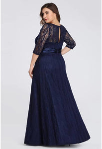 Plus Size Mother of the Bride Dress Long Sleeve Lace Formal - 12