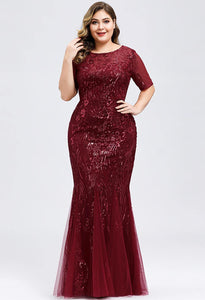Plus Size Prom Dresses Delicate Embroidery Sequin Mermaid - 11