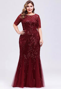 Plus Size Prom Dresses Delicate Embroidery Sequin Mermaid - 14