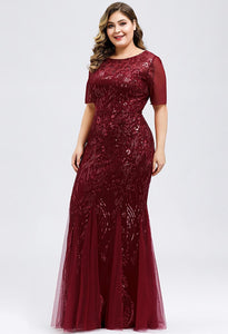 Plus Size Prom Dresses Delicate Embroidery Sequin Mermaid - 13