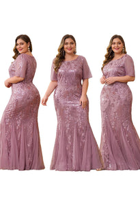 Plus Size Prom Dresses Delicate Embroidery Sequin Mermaid - 10