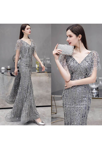 Image of Sheath Formal Dresses Luxury Starlit Sequins Embellished - 7