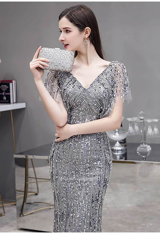 Image of Sheath Formal Dresses Luxury Starlit Sequins Embellished - 5