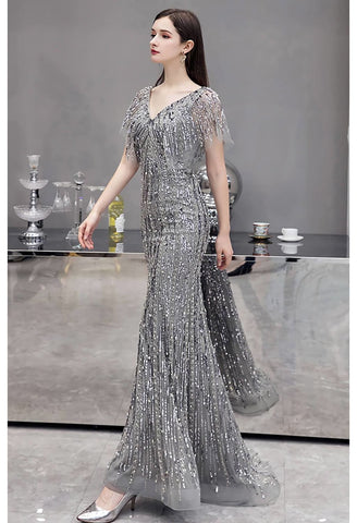 Image of Sheath Formal Dresses Luxury Starlit Sequins Embellished - 2