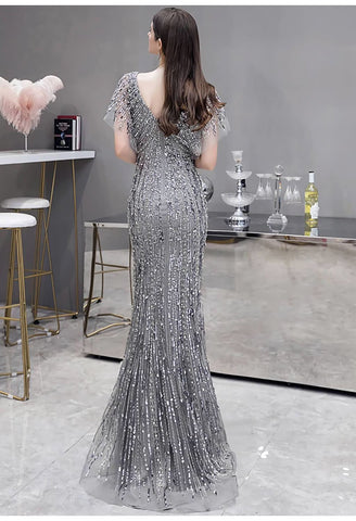 Image of Sheath Formal Dresses Luxury Starlit Sequins Embellished - 4