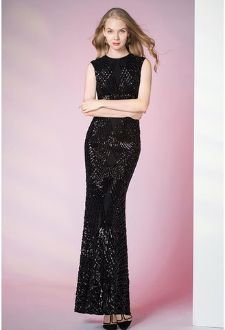 Image of Sheath Pageant Dresses Glamorous Sequins - 1
