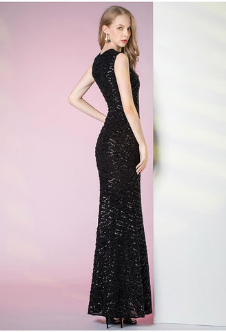 Image of Sheath Pageant Dresses Glamorous Sequins - 3