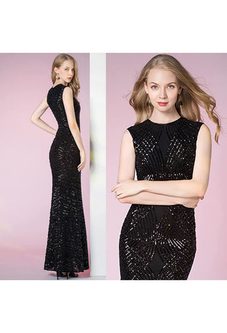 Image of Sheath Pageant Dresses Glamorous Sequins - 6