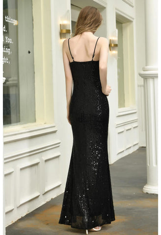 Image of Sheath Party Dresses Junoesque Sequins Embellished Slit - 9