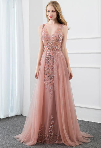 Image of Sheath Prom Dresses Stunning Rhinestones Tully - 1