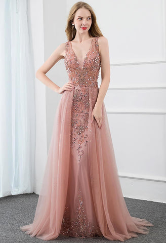 Image of Sheath Prom Dresses Stunning Rhinestones Tully - 3