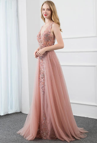 Image of Sheath Prom Dresses Stunning Rhinestones Tully - 4