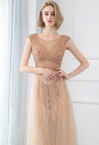 Image of Sheath Prom Dresses Stunning Rhinestones aving Tully - 3