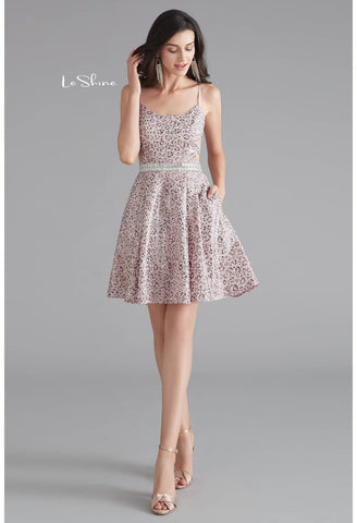Image of Short Cocktail Dresses Spaghetti Straps with Pockets - 2