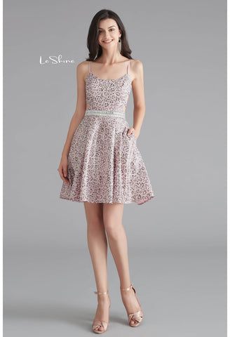 Image of Short Cocktail Dresses Spaghetti Straps with Pockets - 6