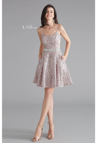 Image of Short Cocktail Dresses Spaghetti Straps with Pockets - 1