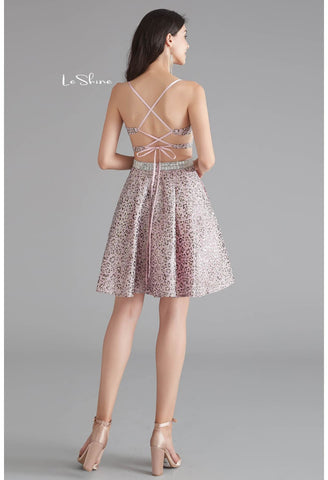 Image of Short Cocktail Dresses Spaghetti Straps with Pockets - 3