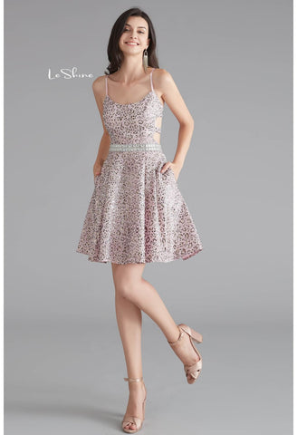 Image of Short Cocktail Dresses Spaghetti Straps with Pockets - 4