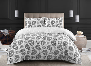 Skull Duvet Cover set 100% Cotton 200 Thread Count Bedding Sets Single Double King Super King Size Quilt Covers - seventhstitch