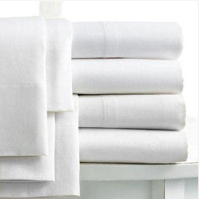 Luxury Egyptian Cotton Flat Sheet 400 Thread Count Double King Super King Sizes - seventhstitch