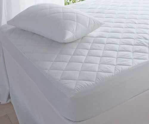 Luxury Quilted Mattress Protector 100% Cotton Fitted Bed Cover All UK Sizes 30cm and 40cm Extra Deep - seventhstitch