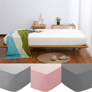 30CM Deep Fitted Sheet 200 Thread Count 100% Egyptian cotton Bed Sheets All Size - seventhstitch