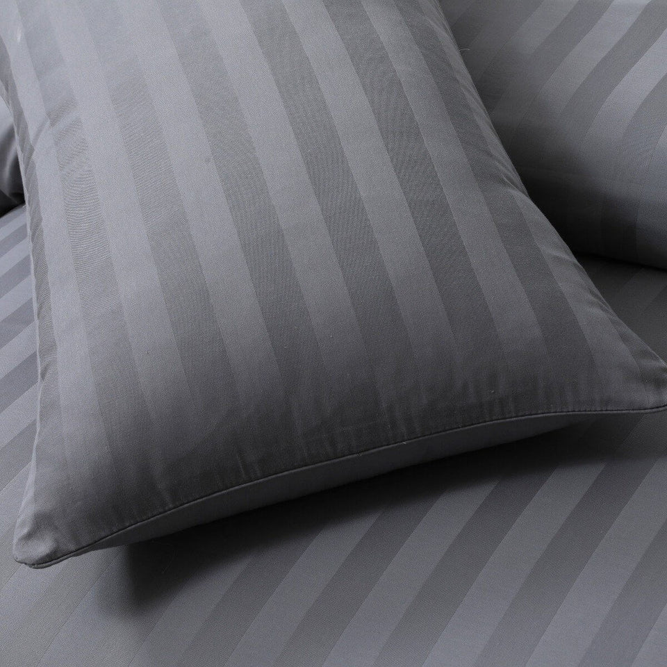 600 THREAD COUNT STRIPE EXTRA DEEP FITTED SHEET 100% EGYPTIAN COTTON DOUBLE KING - seventhstitch