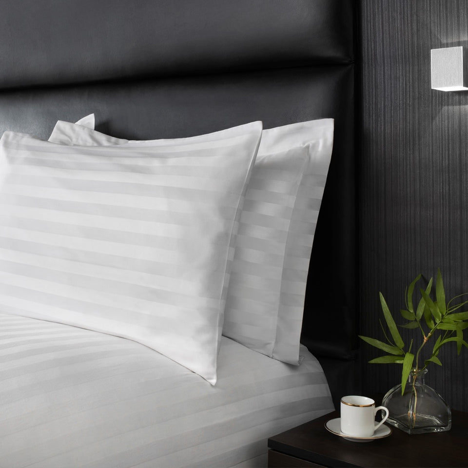 400TC DUVET COVER SET 100% EGYPTIAN COTTON DOUBLE SUPER KING SIZE BEDDING WHITE GREY - seventhstitch