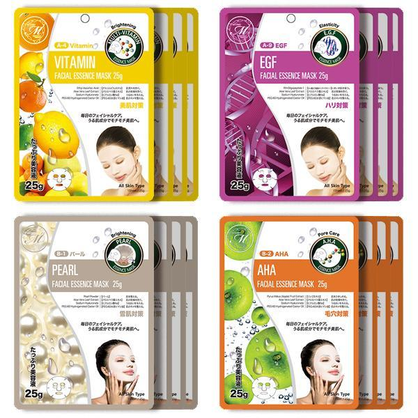 Mitomo Facial Brightening Skincare Beauty Face Mask Sheet bundles: 4 types – 16 packs - Mitomo America