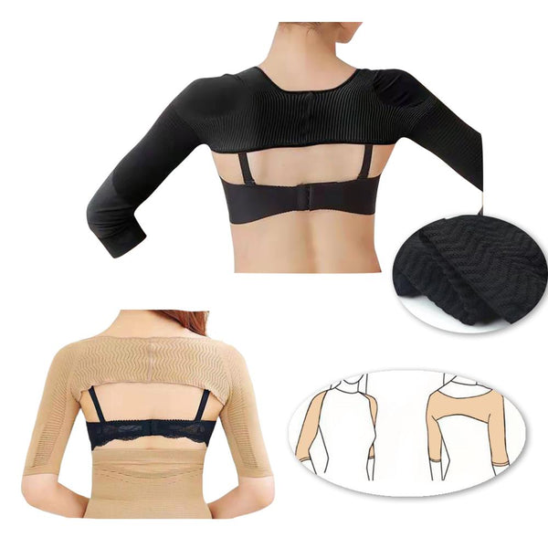 [MPFA00008] MEIPENG Seamless Arm Shaper Women Compression Long Sleeve Arm Slimmer Posture Corrector