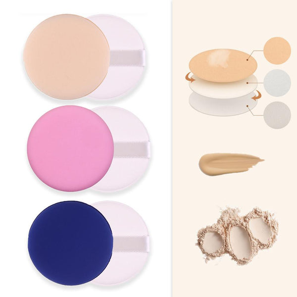[MPTA00010] MEIPENG Air Cushion BB Cream Concealer Powder Puff Foundation Sponge Makeup Tool Round