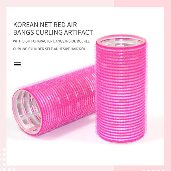 [MPTA00029] MEIPENG Korean net red air bangs curling artifact with eight character bangs inside buckle curling cylinder self-adhesive hair roll