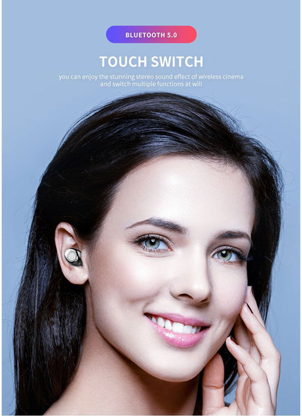 【MPEA00002】MEIPENG F9 Bluetooth headset tws5.0 touch LED power display emergency power true wireless headset