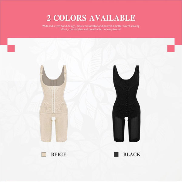 [MPFA00016] MEIPENG Bodysuit Suit Women Slimming Body Shape Floral Lace Wide Straps Hooks Tummy Control