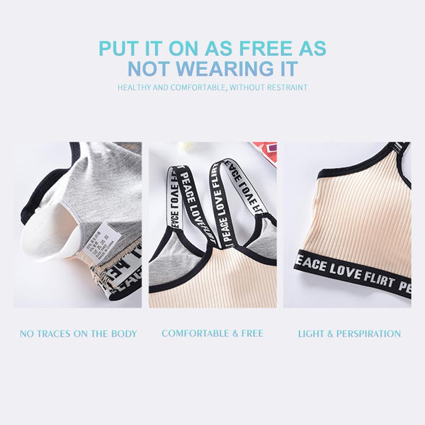 [MPFA00025] MEIPENG Japanese and Korean women's underwear set with no steel ring threaded bra for fitness yoga girls
