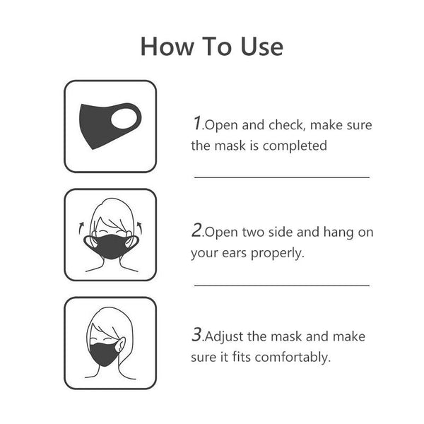 [MPHA00005] MEIPENG 3D Fit Unise Kids Ice Silk Cotton Mask Safety Cotton Breathable Washable Anti Fog Reusable Face Mouth Mask