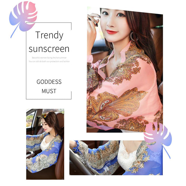 [MPHA00015] MEIPENG Summer Sun UV Protection Chiffon Tops Clothing Air-conditioned Shirt