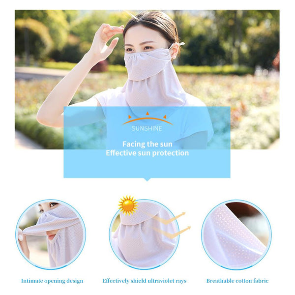 [MPHA00017] MEIPENG Women's UV Layered Mask-Sun Protective-2020 chiffon Mask